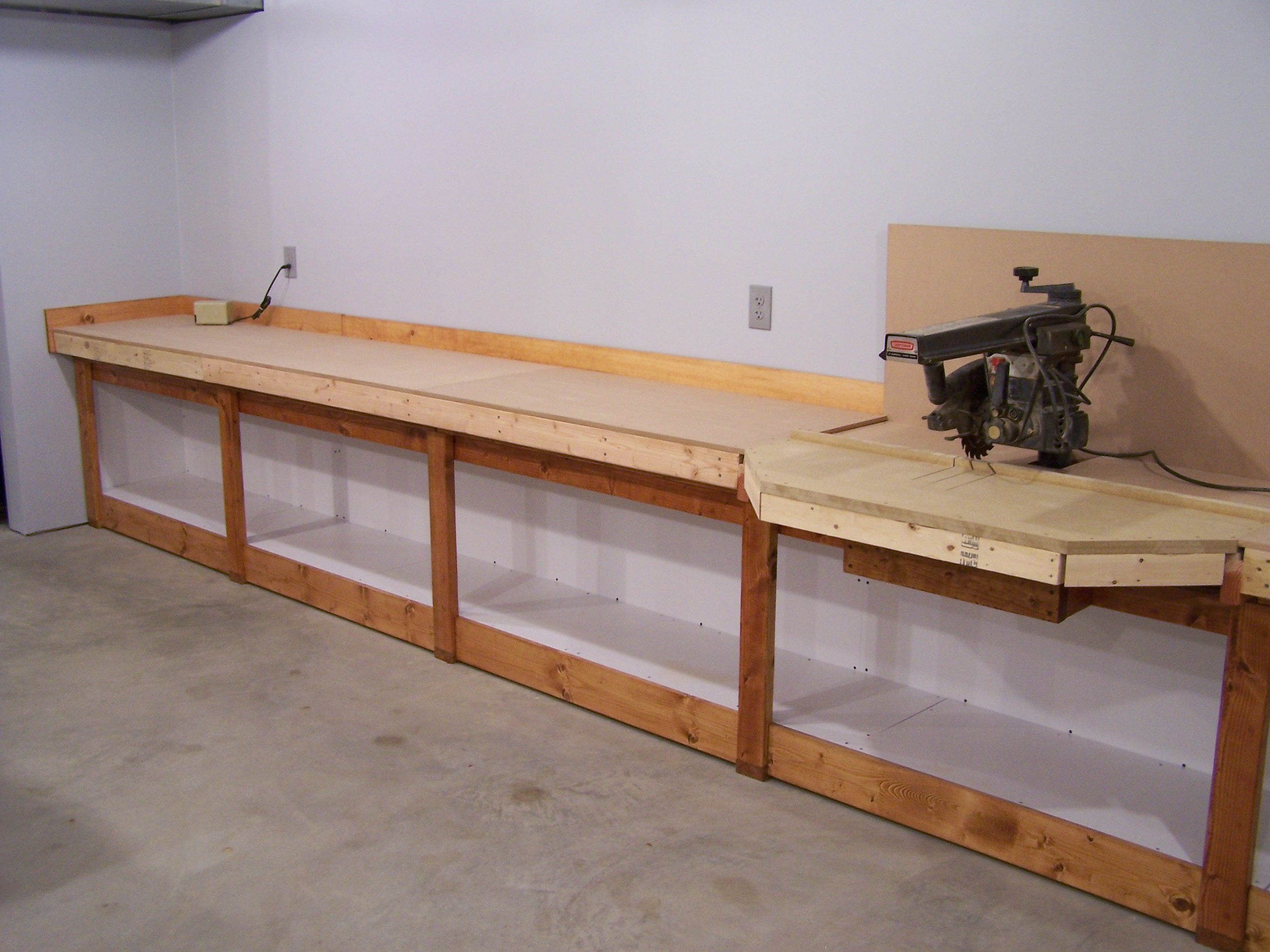 Wall mounted fold down workbench plans woodideas for Working table design ideas