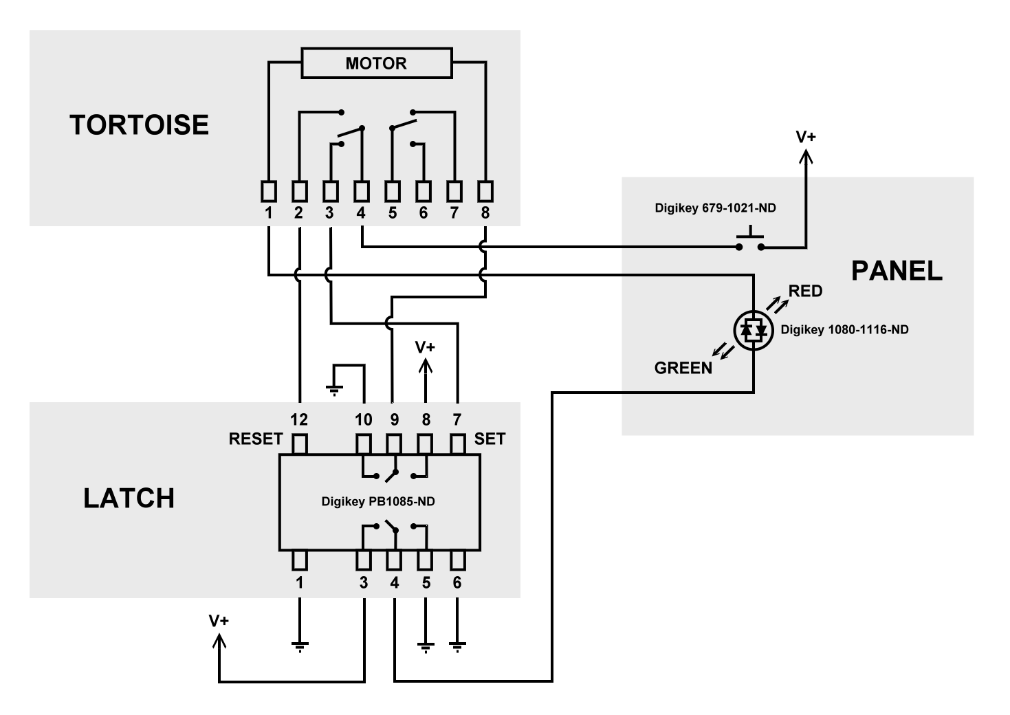 tortoise wiring diagram for controls reverse polarity